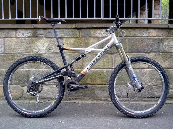 "Benji's Cannondale Prophet MX is back in ""Enduro"" mode (after being in Downhill mode for the Kidland DH race t'other week)."