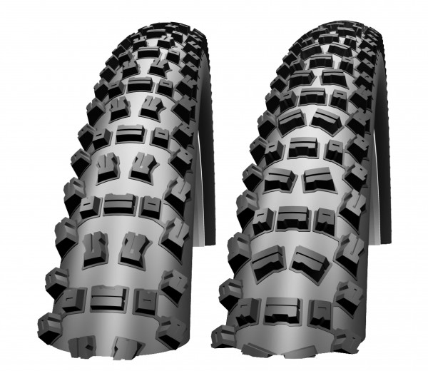 Schwalbe Fat Albert - front and rear.