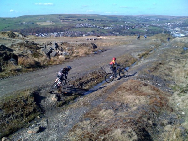 Some authetic yoofs messing about at Lee Quarry. Pic by Ed Oxley.