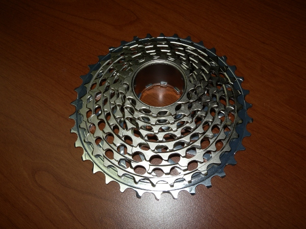 Front view of the Sram XX cassette