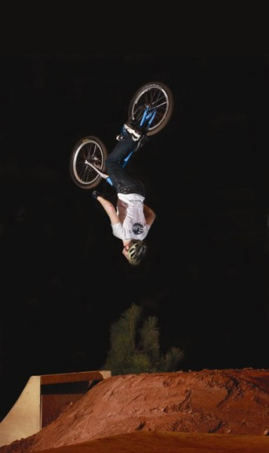 That's Danny MacAskill backflipping that is.