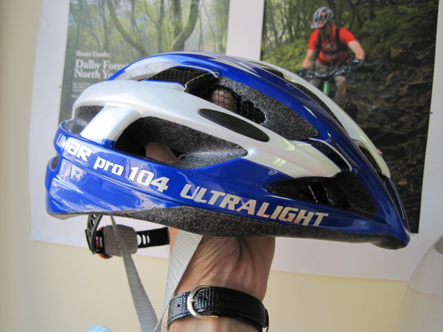 "Limar's Pro 104 helmet - the ""world's lightest helmet"" apparently (180g)."