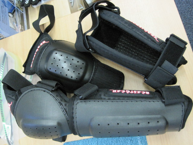 Armour from Beastgear - the knee bits are detachable from the shin bits.