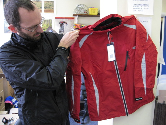 The red one is Madison's Stellar ladies jacket.