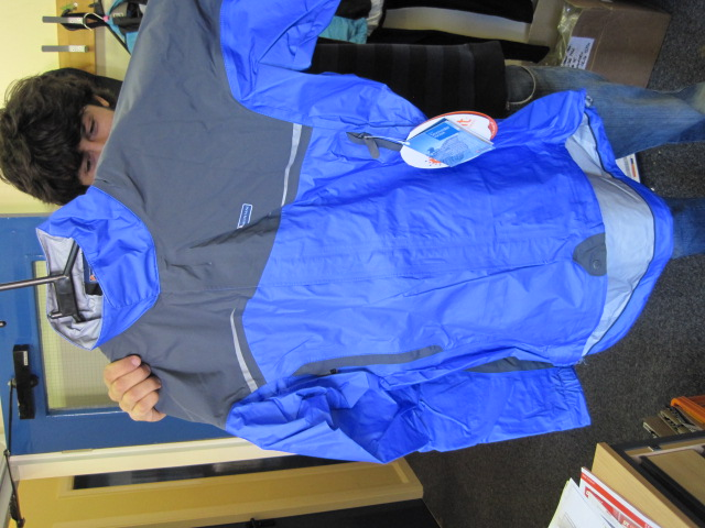 Montane's Stormrider in for next issue's waterproof jacket group test. Sorry about the sideways pic - can't work out what's going wrong!