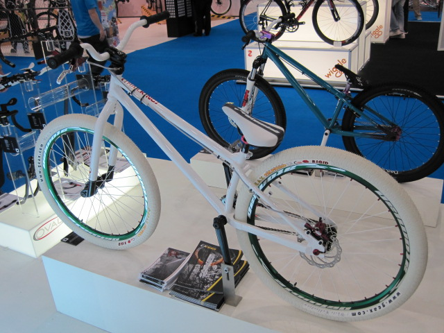 GHOST BIKE! The usual stylish collection of dirtjump bikes on the DMR stand.