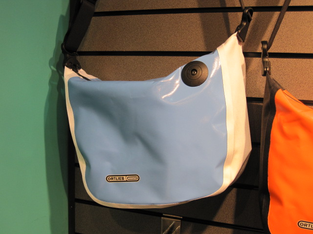 Ortlieb waterproof courier bag in a lovely shade of blue. Also available in much larger volume sizes.