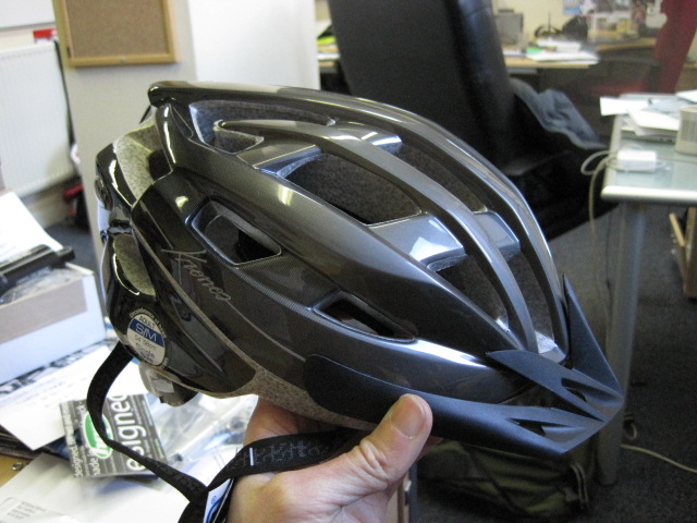 IXS X-Cronos helmet. We didn't really get along with the IXS helmets in last issue's group test so they've sent another one to see if that does any better. First impressions (wearing whilst typing at a desk) are favourable :-)